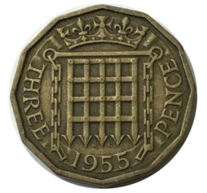 old threepence
